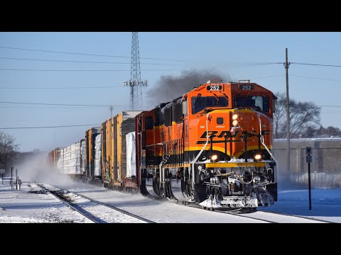 Winter 2019 on the BNSF Staples Sub - EMDs, BN, CSX, NS, Meets and lots more
