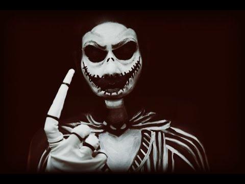 Spooky Jack Skellington The Pumpkin King Make Up Youtube
