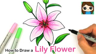 How to Draw a Lily Flower Easy
