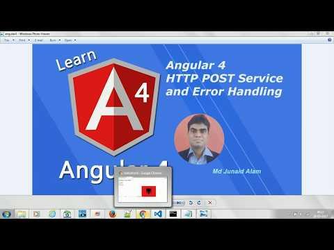 Angular 4 HTTP POST Service and Error Handling (Angular 4) -  #11