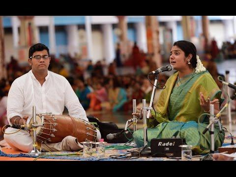 Tamil Nadu Devotees Parthi Yatra, Day 1 || Vidhya Kalyanaraman Vocal Concert - 12 Apr 2016