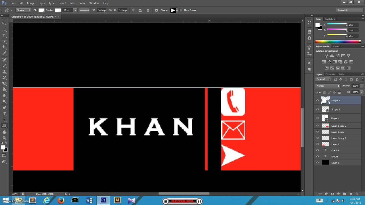 How to make a business card by adobe photoshop cs6 youtube how to make a business card by adobe photoshop cs6 reheart Choice Image