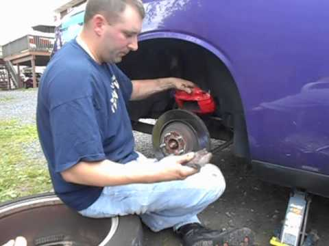 how to change rear rotors