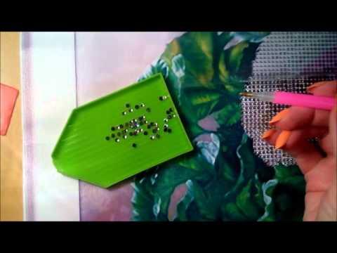 Как клеить алмазную вышивку из китая видео