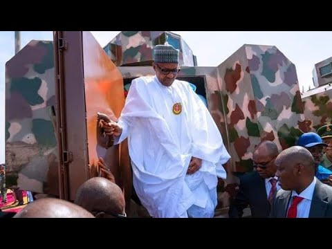 Download Listen To What Buhari Told General Buratai After Inspecting Made In Nigeria Fighting Vehicles