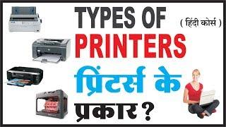 Types of Printers in Hindi