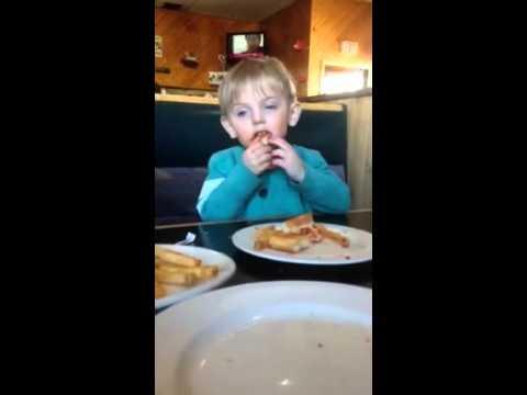 Little Boy Falls Asleep while Eating