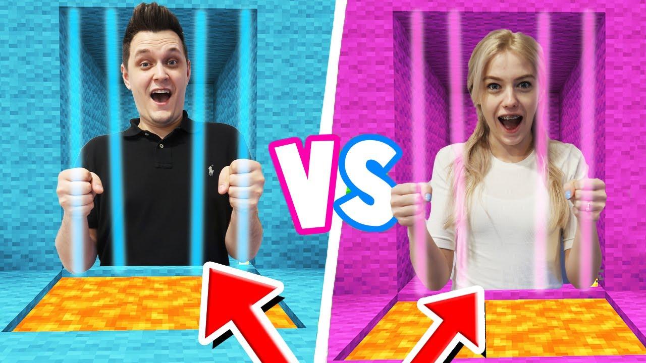 Minecraft - CHŁOPAK vs DZIEWCZYNA Więzienie Challenge   Vito vs Bella
