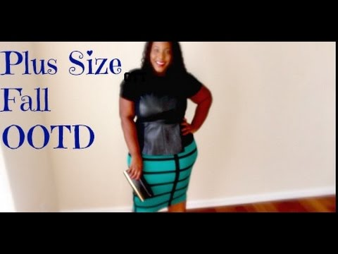 Sexy Leather Peplum Top Plus Size Ottd Fall Edition Youtube