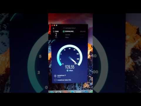Speed Test Vodafone IperFibra