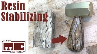 Rotten Wood to Brass Hammer Handle - Resin Stabilizing