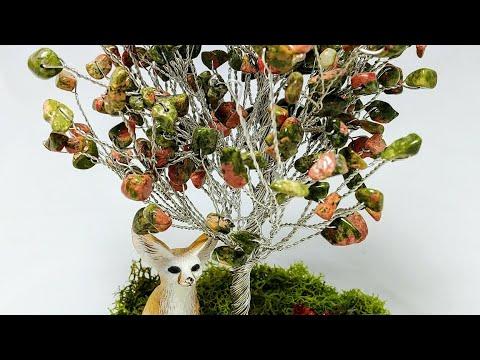 Дерево счастья Фен шуй из камней Обзор моих работ