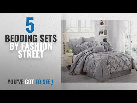 Top 10 Fashion Street Bedding Sets [2018]: Fashion Street Athena 8 Piece Comforter Set, Queen, Gray