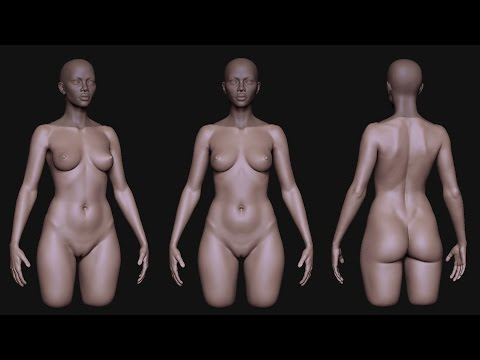 Zbrush African female head and body sketch _3