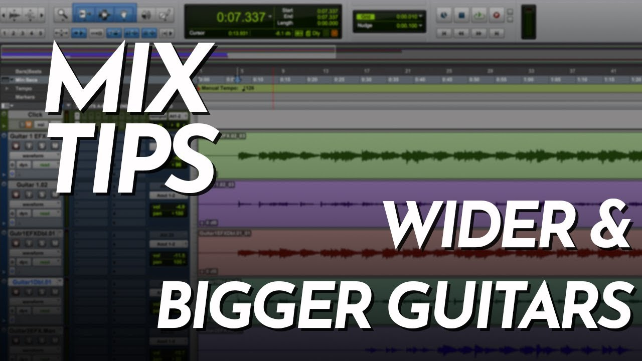 Doubling Acoustic Guitars - Get Wider and Better Sounding Guitar Tracks -  Pro Tools Tutorial