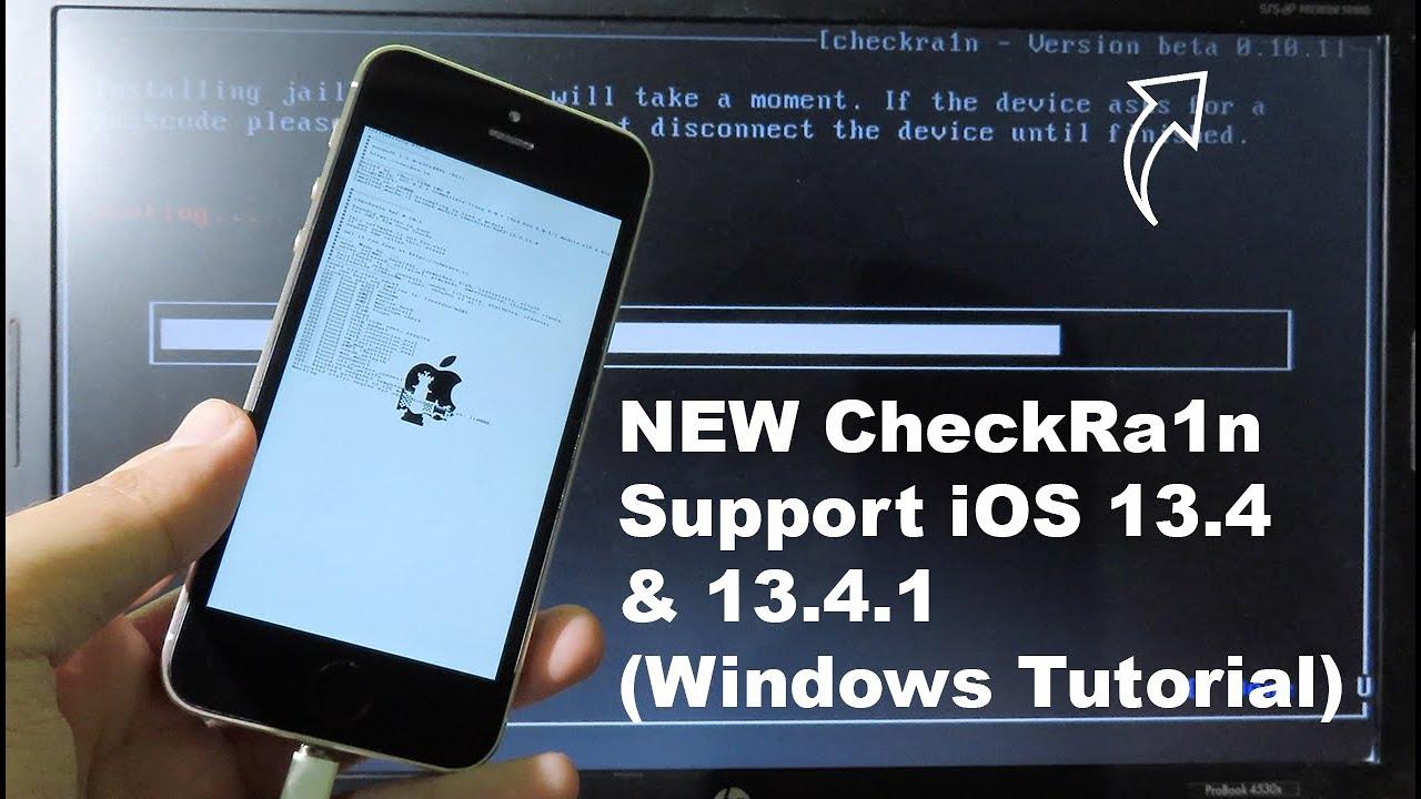 NEW Jailbreak iOS 13.4-13.4.1 CheckRa1n (Full Windows Tutorial)
