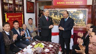 Thủ tướng Nguyễn Xuân Phúc mừng thọ Trung tướng Đặng Quân Thụy