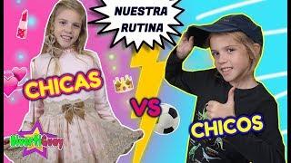 ¡¡CHICAS VS CHICOS!! RUTINA DE MAÑANA PARA LA ESCUELA NIÑAS VS NIÑOS MORNING ROUTINE
