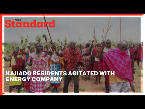 Kajiado residents protest activities of an Energy company claiming it may be harmful to them