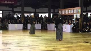 平成27年京都大会 日本剣道形 打太刀 島野範士 仕太刀 石田範士