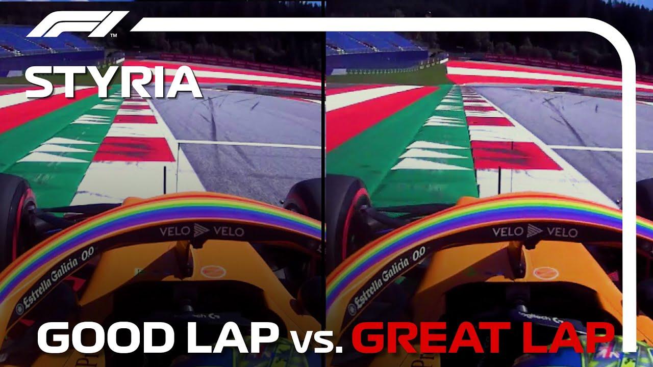 Good Lap vs. Great Lap, with Lando Norris | Styrian Grand Prix