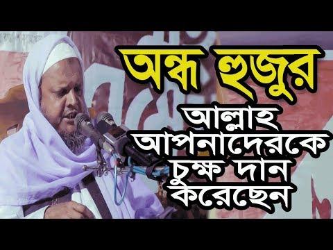 অন্ধ হুজুর নিজেও কাঁদলেন ও সবাইকে কাঁদালেন । Bangla waz | hafez mawlana jakir hosain |