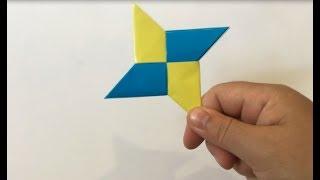 як зробити зірочку ніндзя з паперу
