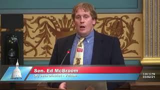 Sen. McBroom speaks in support of Senate Bill 1