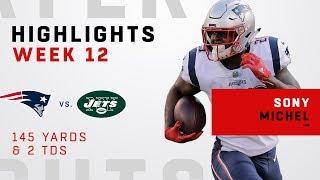 Sony Michel Highlights vs. Jets