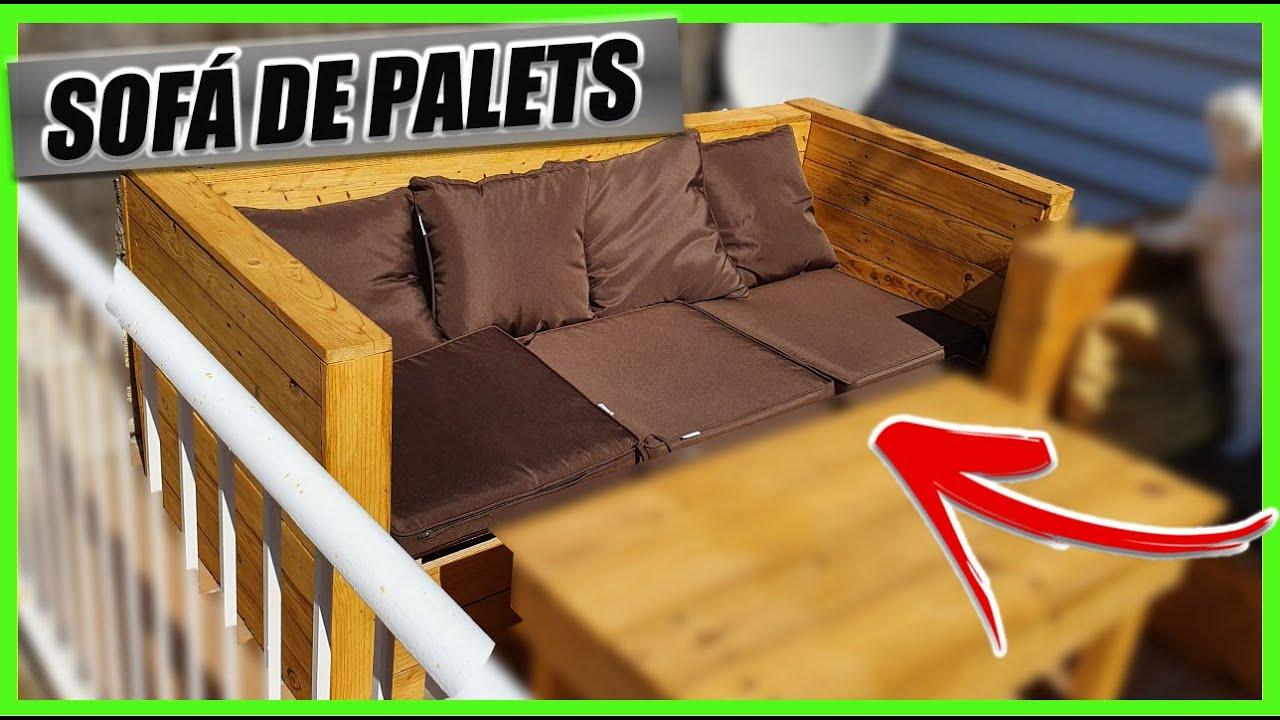 Como Hacer Sofa De Madera De Palets Para El Jardin O Terraza