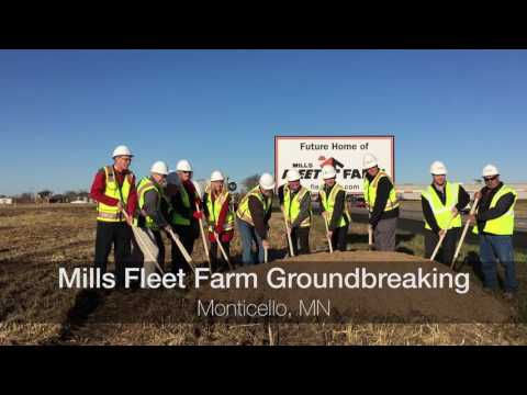 Mills Fleet Farm Monticello Groundbreaking