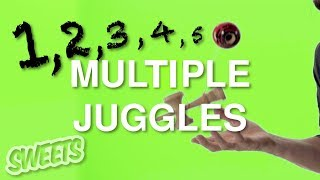 How to do MULTIPLE JUGGLES - Sweets Kendamas Tutorial