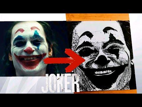 How to Draw The Joker Joaquin Phoenix