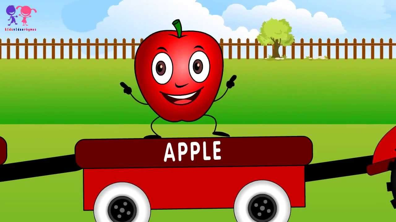 Learn Names of Fruits with Truck & Animated Fruit Cartoons ...