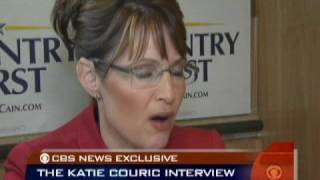 Couric Wraps Palin Interview