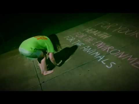 Chalking up the Campus|VEGAN MESSAGES