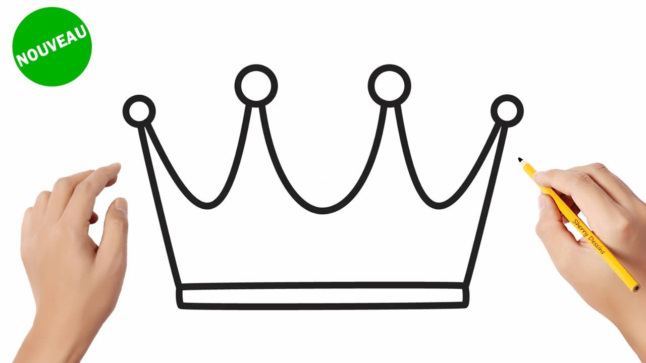 Comment dessiner une couronne | How to draw a crown