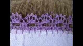 Bico em crochê Sofisticado e Simples de fazer