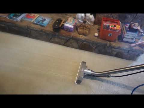 Applying protection to a velvet sectional sofa & cleaning 1 room of carpet