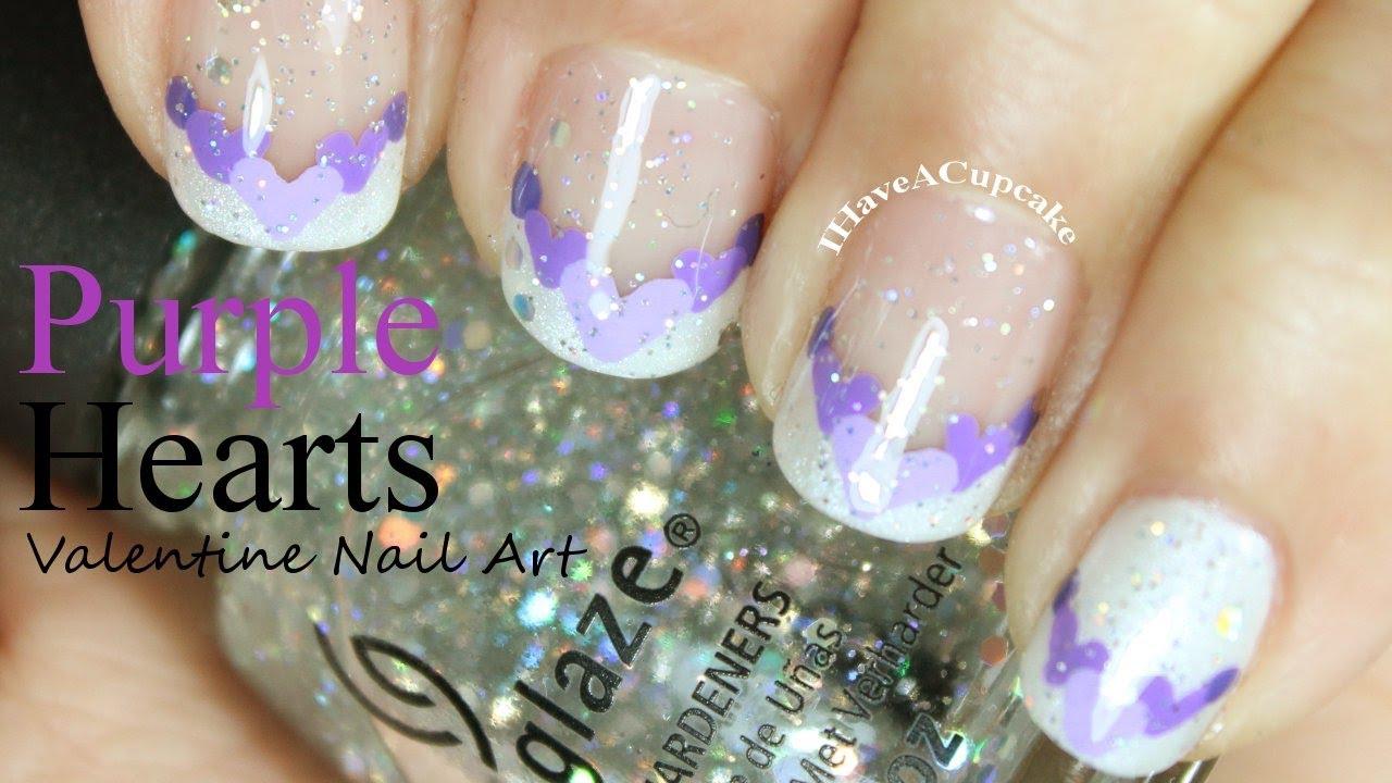 Purple Nail Tips Designs Splendid Wedding Company