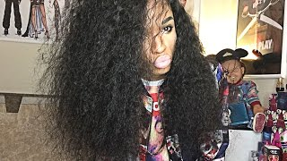 BuyLaceWigs.com Natural Curly Brazilian Full Lace Black Wig 24 Inch