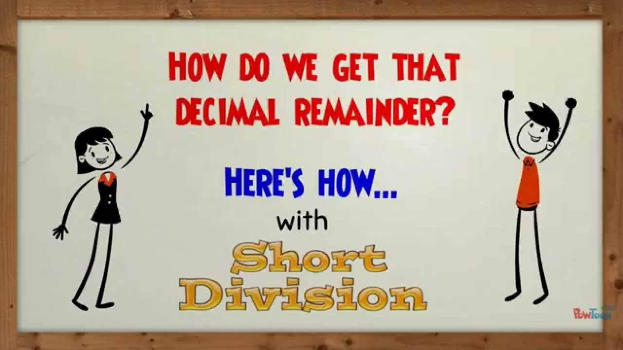 Worksheet Short Division With Decimal Remainders short division with a decimal remainder youtube remainder