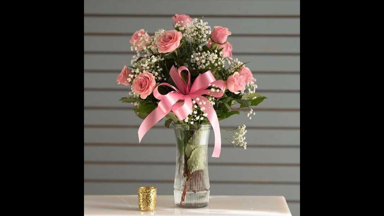 Cách cắm hoa hồng trong lọ cao trưng nhà | Học cắm hoa