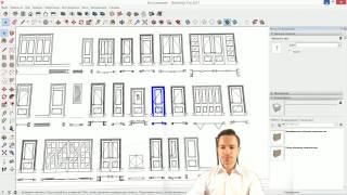 помоделим-ка! #03. Моделирование дверей в SketchUp