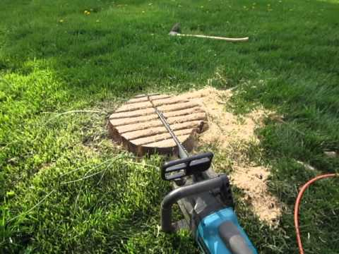 Stump Grinding With A Chain Saw By David Termini Part 1