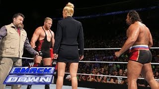Jack Swagger engages in an in-ring stand-off with Rusev: SmackDown, July 4, 2014