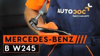 Kuinka vaihtaa raidetangon pää MERCEDES-BENZ B W245 merkkiseen autoon [OHJEVIDEO AUTODOC]
