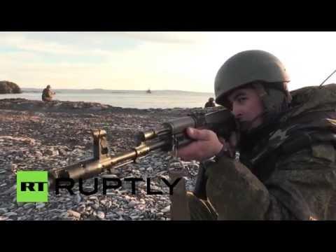 Tanks against terror: Arctic motorized intry brigade carries out Novaya Zemlya drills