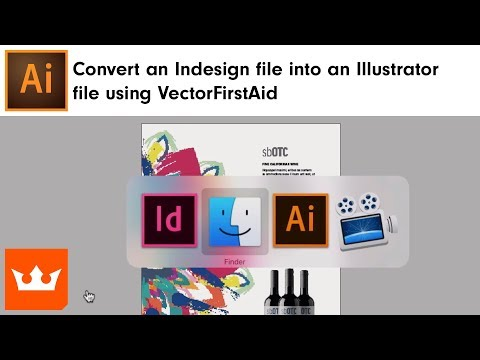 How to convert an Indesign file into an Illustrator file using VectorFirstAid | Sebastian Bleak