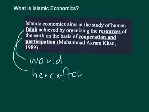 what is islamic economics